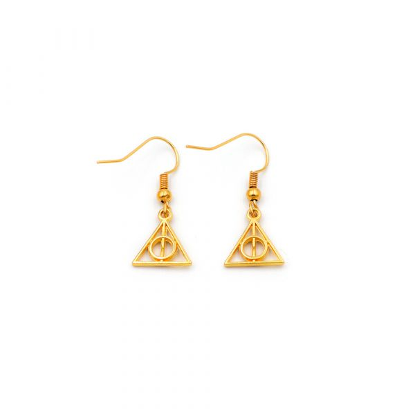 Golden Deathly Hallows earrings