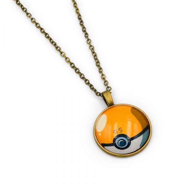 Orange Poke Ball necklace