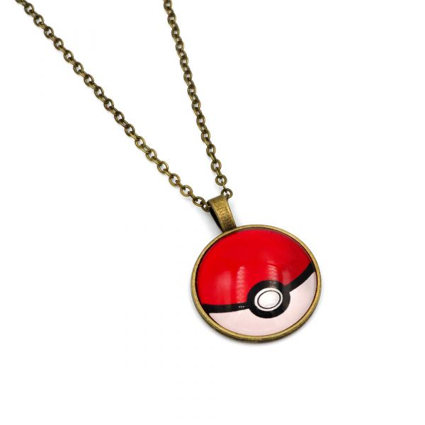 Red Poke Ball necklace