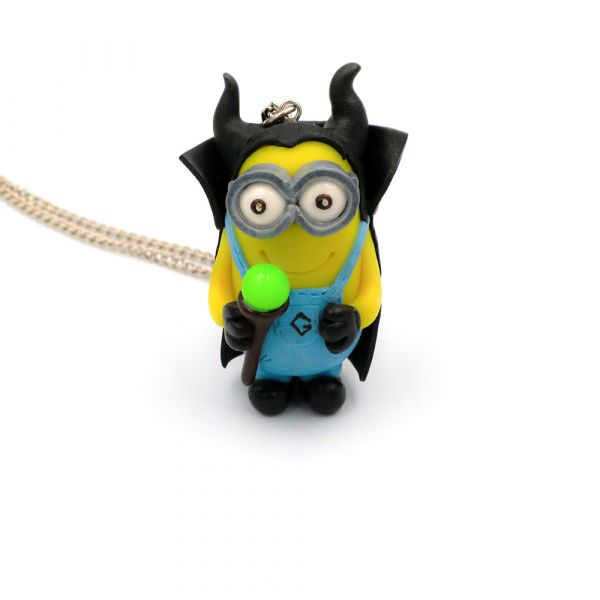 Handmade Minion-Batman necklace