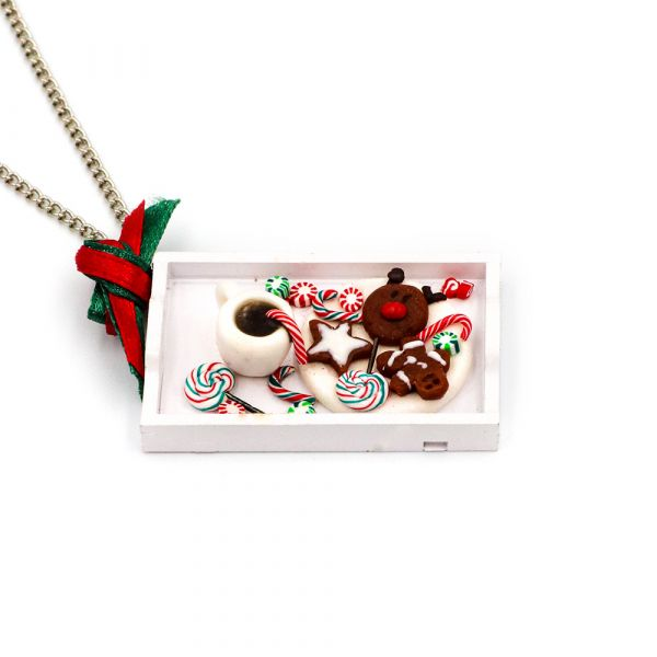 Handmade Xmas Dish necklace