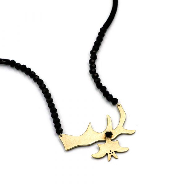 Bat in the tree necklace