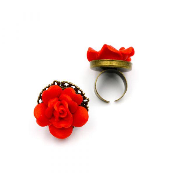 Χειροποίητο δαχτυλίδι τριαντάφυλλο