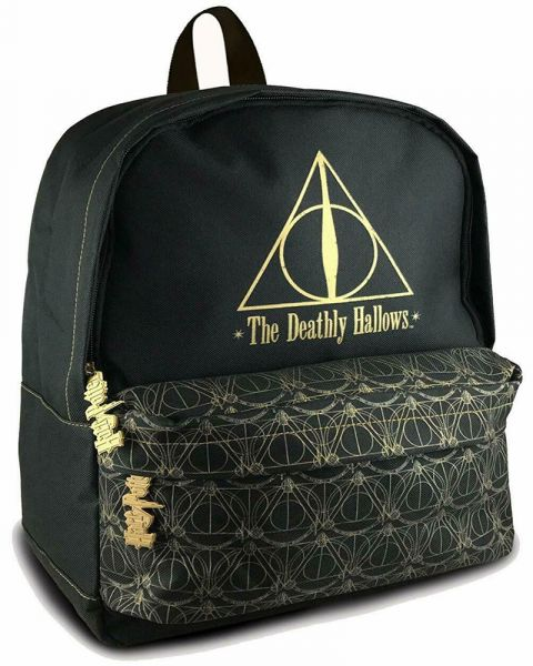 Backpack Harry Potter Deathly Hallows Black and Gold