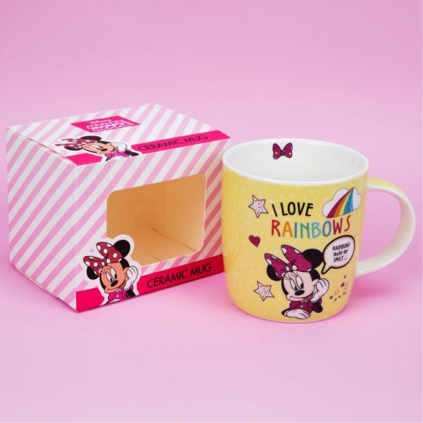 Disney Minnie Mouse Yellow Rainbow Mug
