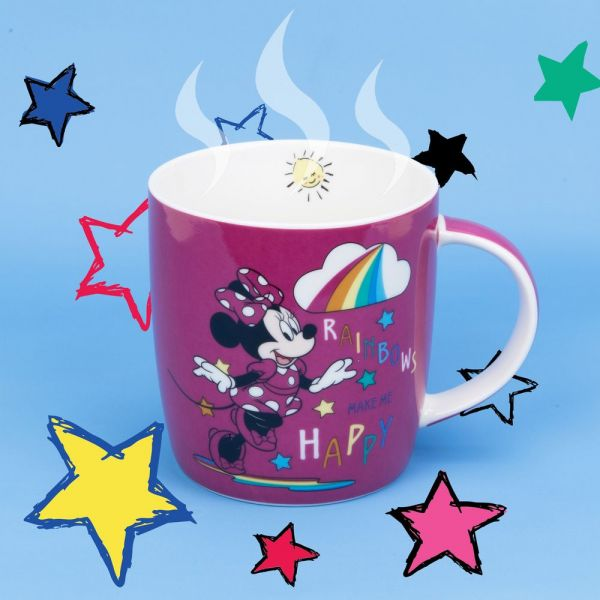 Disney Minnie Mouse Pink Rainbow Mug