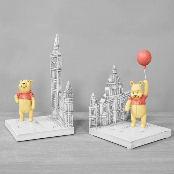 Disney Christopher Robin Resin Winnie the Pooh Bookends