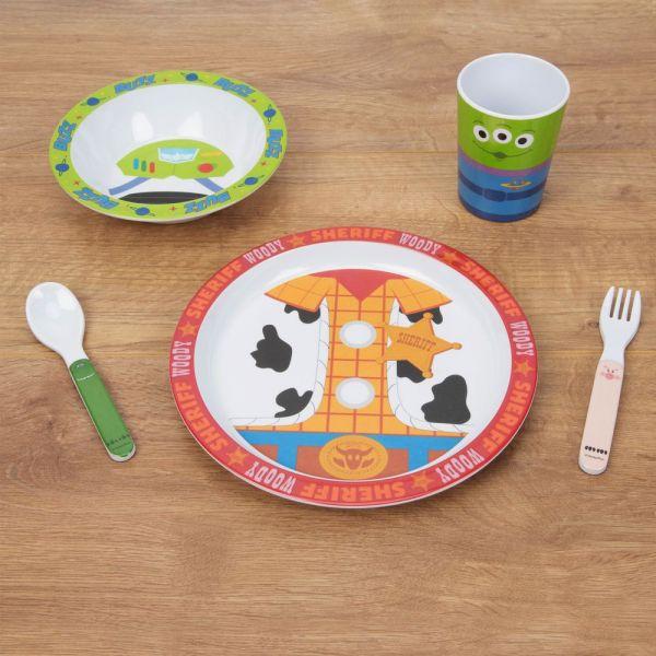 Disney Toy Story 4 - 5 Piece Melamine Breakfast Set