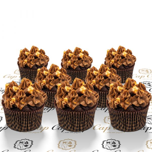 Snickers cupcakes (8 τμχ)