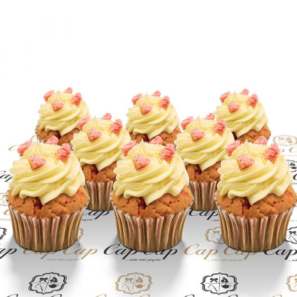 Pink Velvet cupcakes (8 pc)