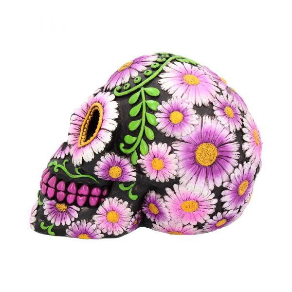 Κουμπαράς Νεκροκεφαλή με Λουλουδένιες λεπτομέρειες